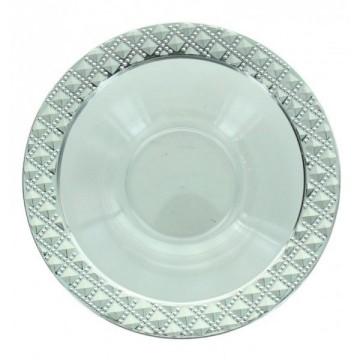 5 bols ronds bord diamant 12cm - fêtez-moi