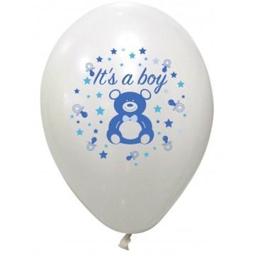 8 ballons baby shower boy
