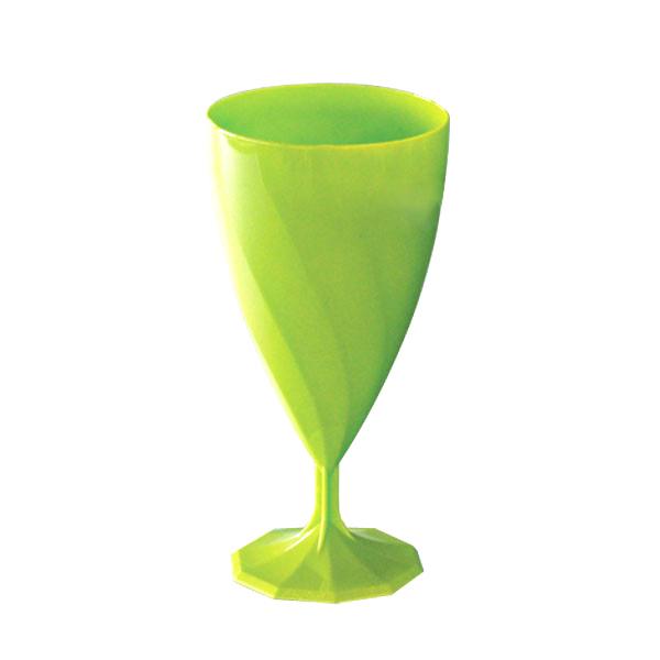 6 verres à eau design plastique rigide vert anis 20 cl