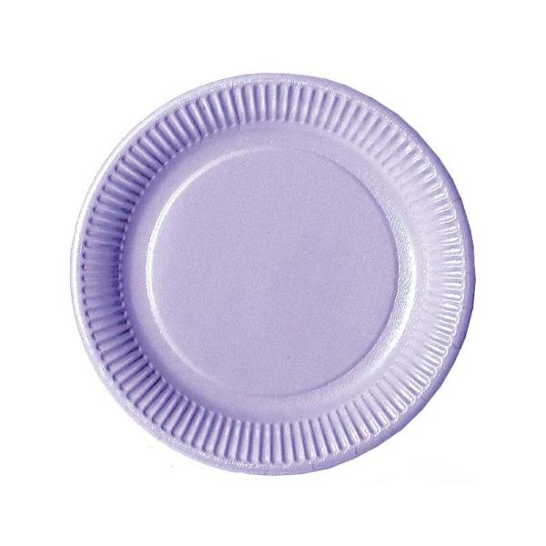 20 assiettes en carton parme 23 cm