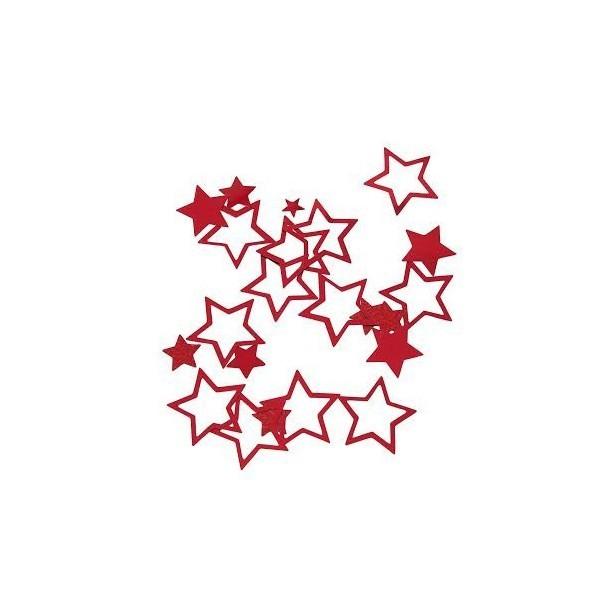confettis étoile rouge - 18g