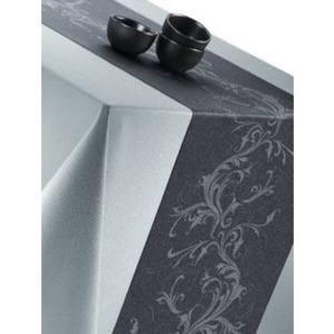 chemin de table papier rouleau harmony anthracite/ argent 0.4x10 m