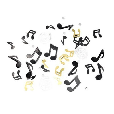 confettis musical noir - 18g