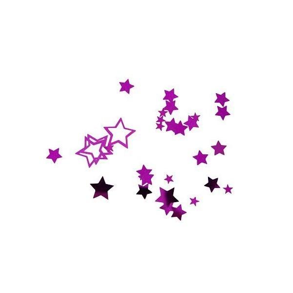 confettis étoile fuchsia - 18g