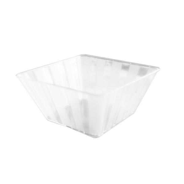 10 coupes dessert carrées en plastique rigide transparent
