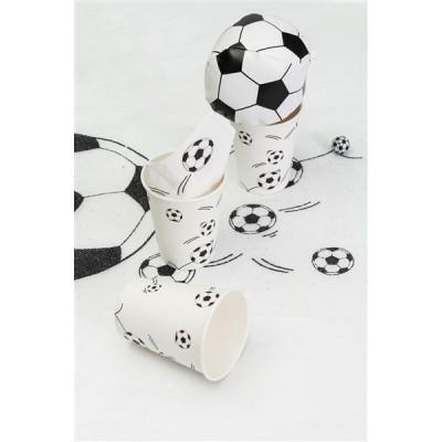 10 gobeletsen carton  football blanc 25 cl