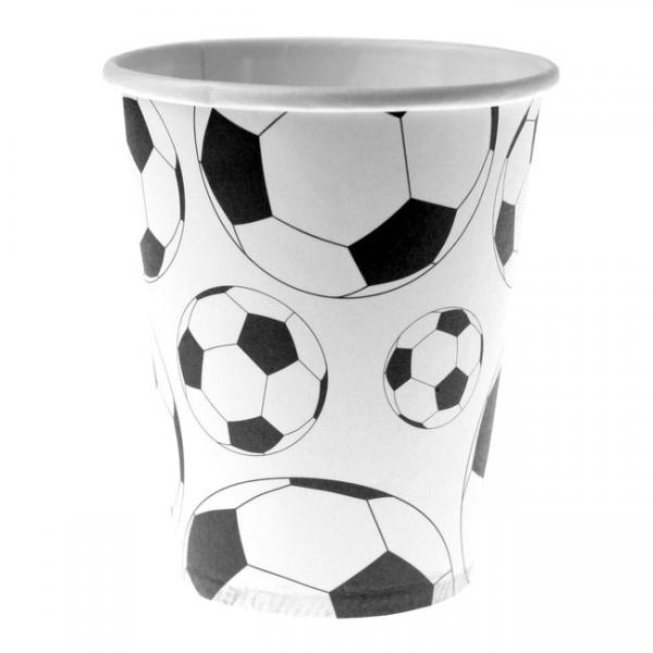 10 gobelets foot en carton - blanc & noir