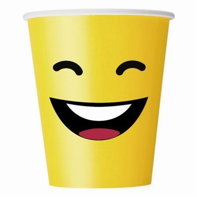 10 gobelets en carton fun jaune - 25 cl