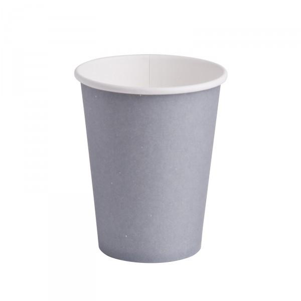 10 gobelets unis en carton gris 25 cl