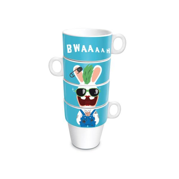 4 mugs empilés les lapins crétins™