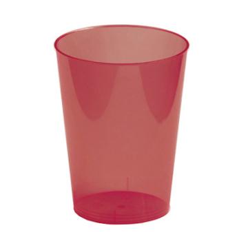 6 verres en plastique rigide bordeaux 30 cl