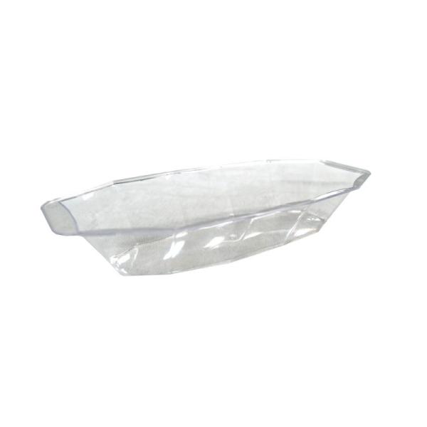 10 plats ovales creux en plastique rigide transparent