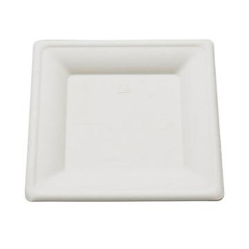 1000 assiettes carrées biodégradables 15 cm