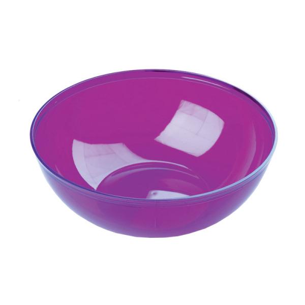 saladier en plastique rigide aubergine 3,5 l