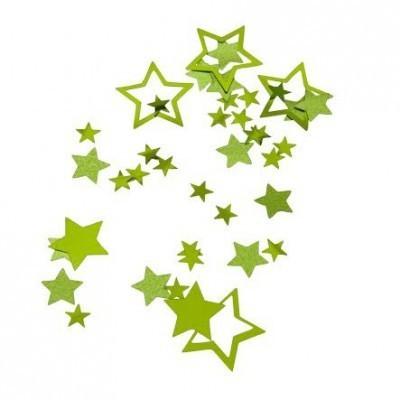 confettis étoile vert - 18g