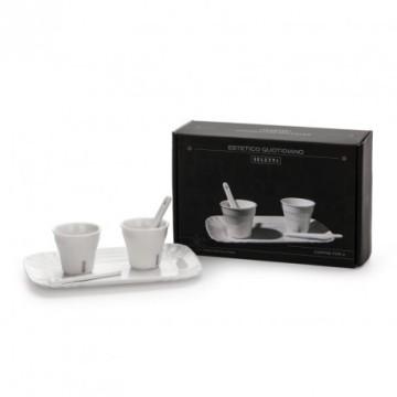 duo tasse de café seletti en porcelaine
