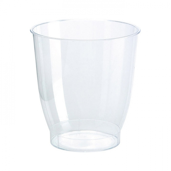 30 verres crystallo en plastique transparent 15 cl