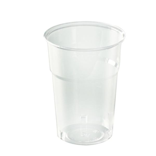 50 gobelets en plastique transparent 10 cl