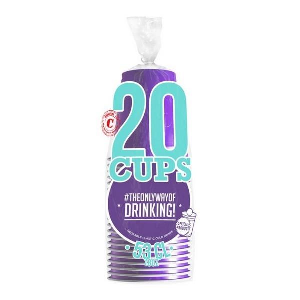 20 gobelets americain violet 53cl - original cup