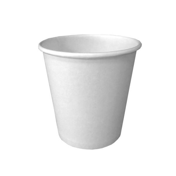 100 gobelets en carton blanc 10 cl