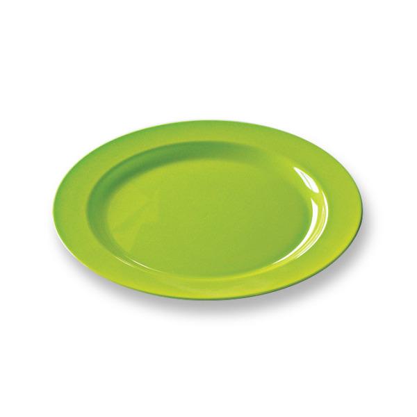 12 assiettes en plastique rigide ronde anis prestige 19 cm