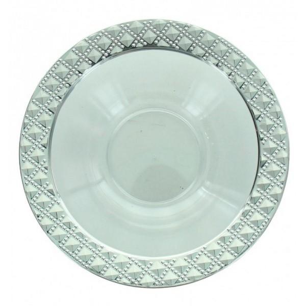 5 bols transparents ronds bord diamant 12cm - fêtez-moi