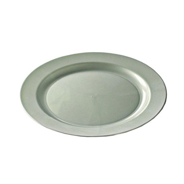12 assiettes en plastique rigide ronde argent prestige 24 cm