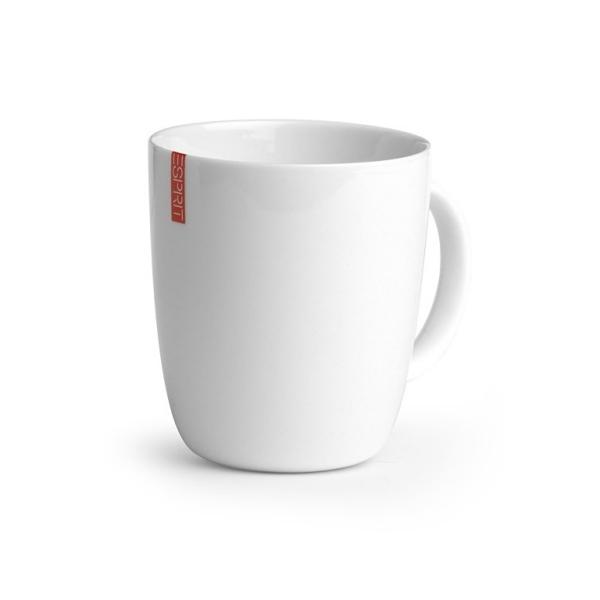 2 mugs en porcelaine blanche