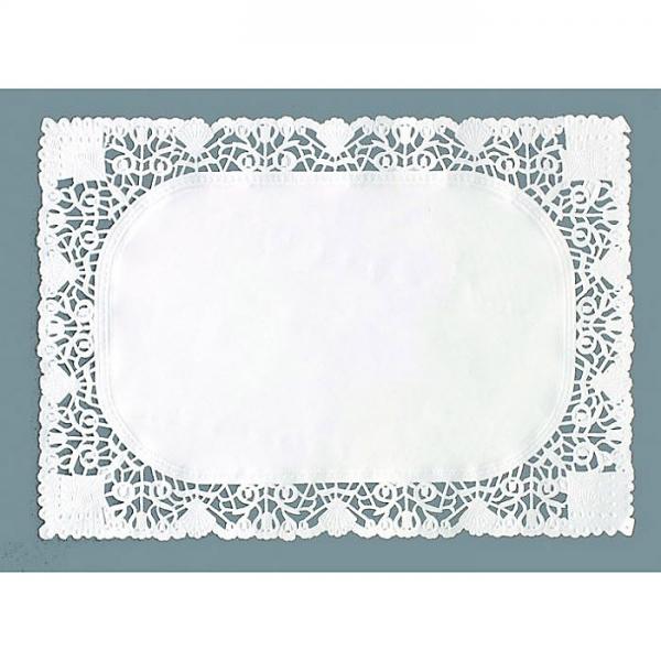250 dentelles en papier rectangle 14x24 cm