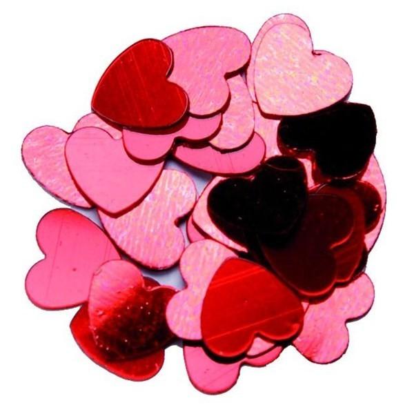 confettis en coeur bordeaux - 18 gr