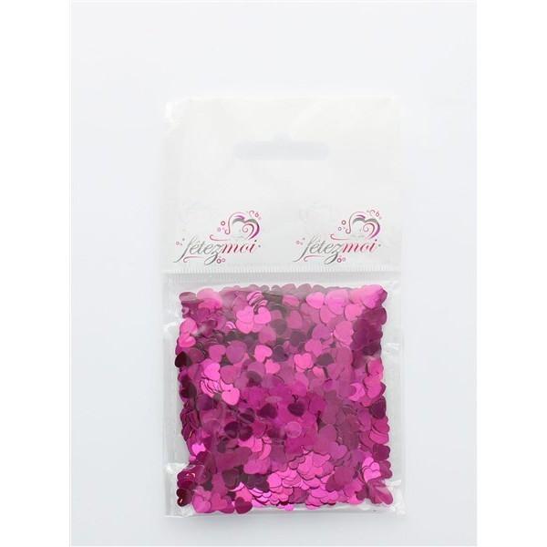 confettis en coeur fushia - 18 gr