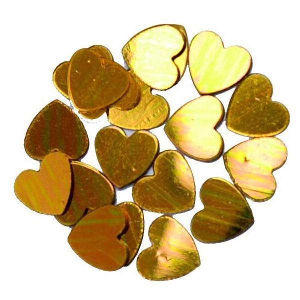 confettis en coeur or - 18 gr