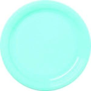 12 assiettes en plastique rondes turquoise prestige 24 cm