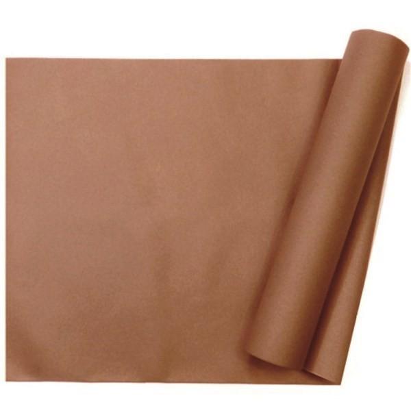 chemin de table intissé chocolat - 29 cm x 10 m