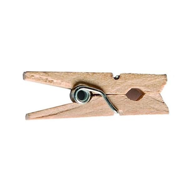 50 mini pinces en bois - naturel