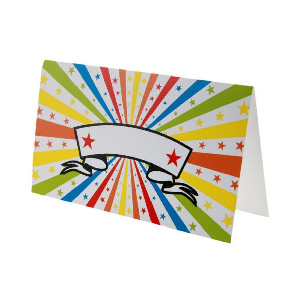 10 cartes cirque multicolore