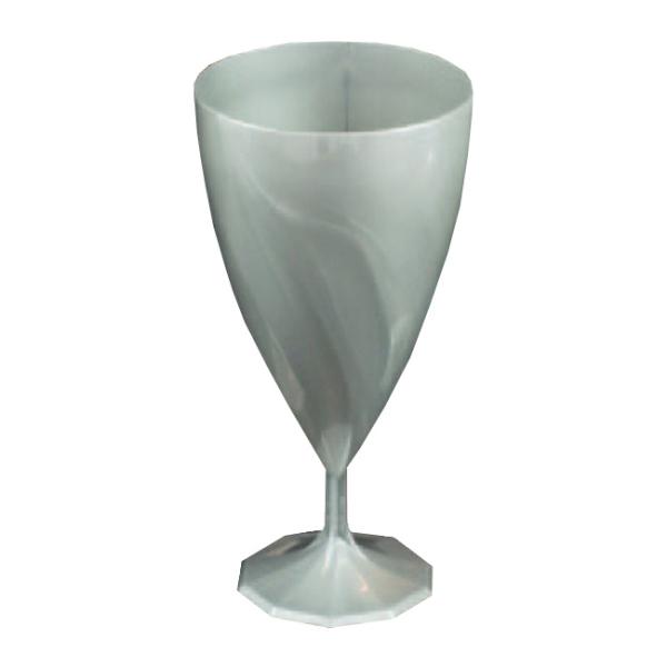 6 verres à eau design plastique rigide argent 20 cl