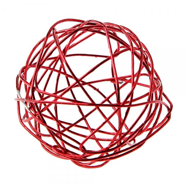 6 petites boules en métal - rouge