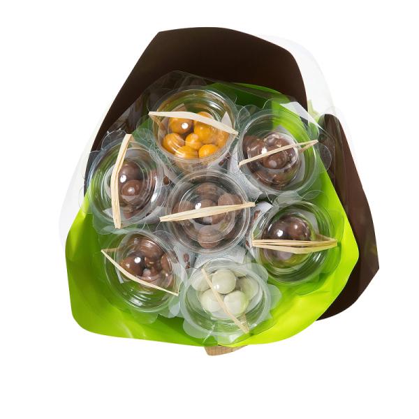 bouquet gourmand crousti'billes au chocolat -  vert anis & chocolat
