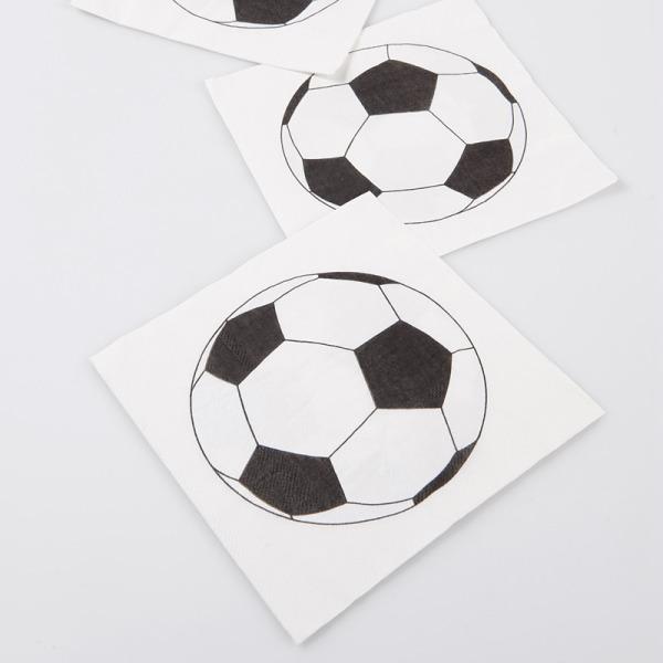 20 serviettes de table foot