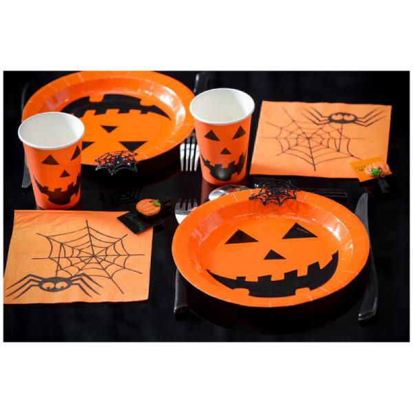 10 assiettes halloween en carton