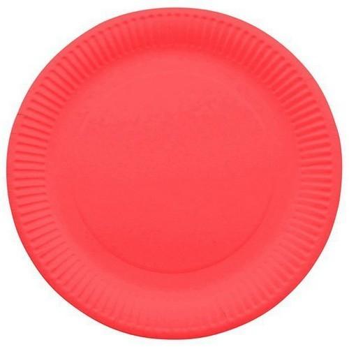 10 assiettes en carton laquée rouge - fetez-moi