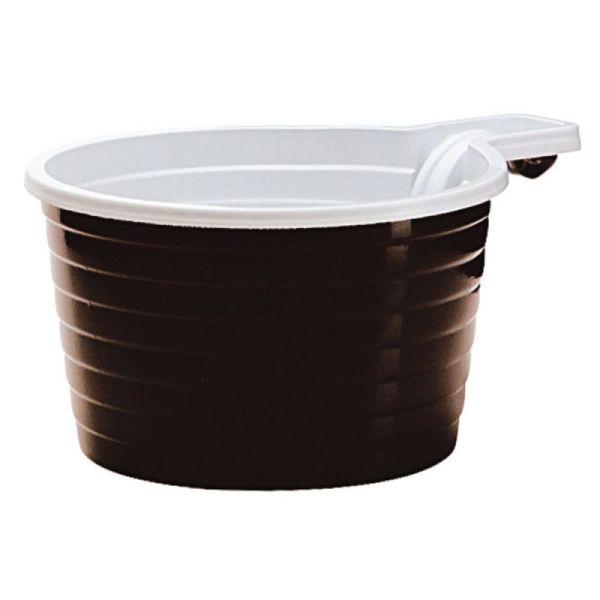 50 tasses avec anse en plastique marron 21 cl