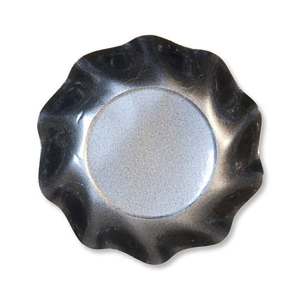 10 coupelles rondes en carton gris perle party line 18.5 cm
