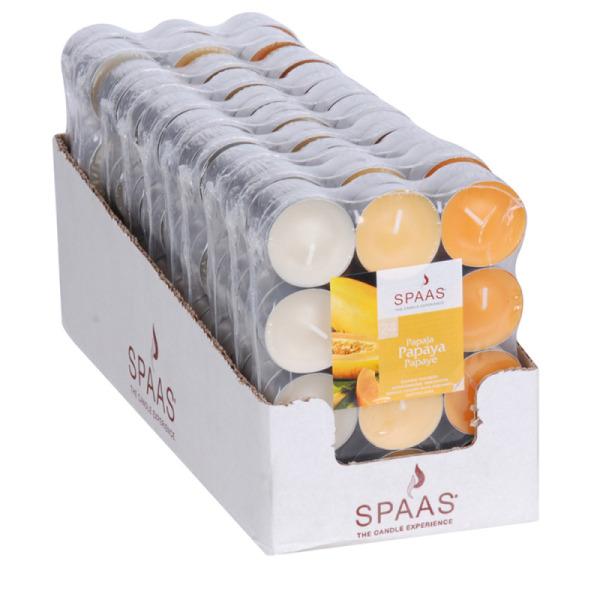 24 bougies chauffe-plat parfum papaye