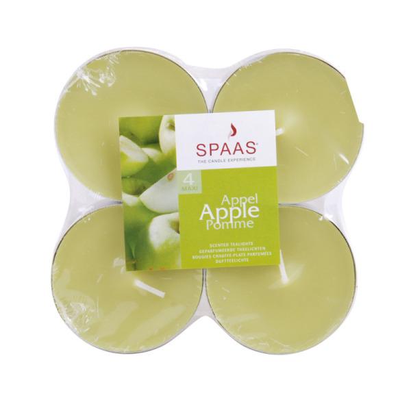 4 bougies chauffe-plat parfum pomme