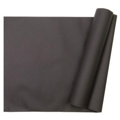 chemin de table intissé noir - 29 cm x 10 m
