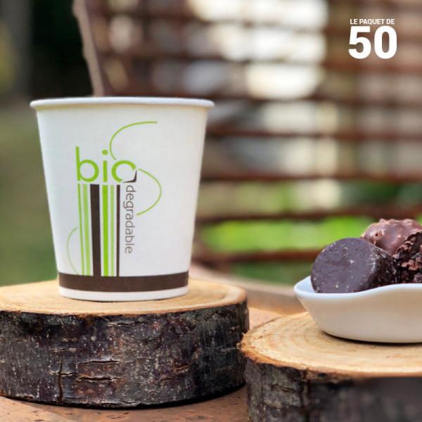 50 gobelet biodégradable 18 cl