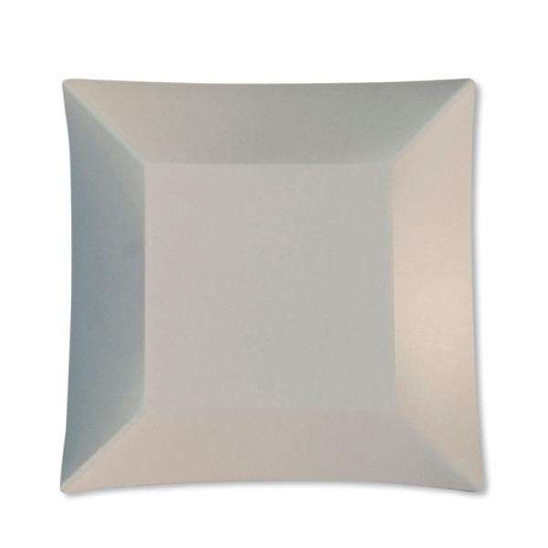 8 grandes assiettes carrées en carton blanc opaque wasabi