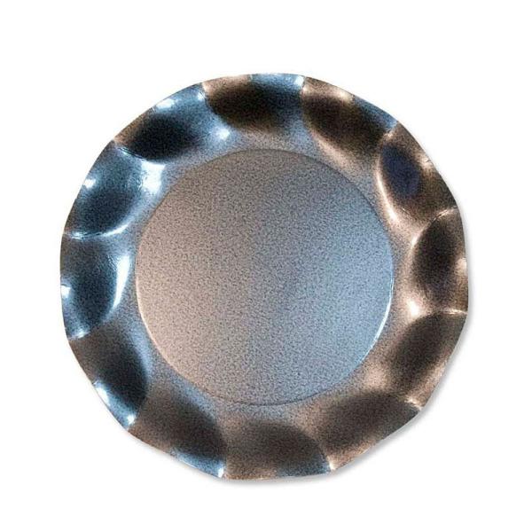 10 grandes assiettes rondes en carton gris perle party line 27 cm